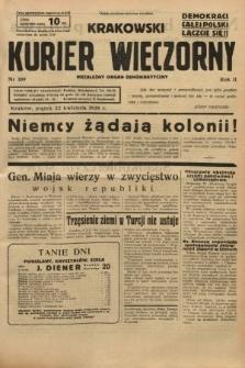 Krakowski Kurier Wieczorny : niezależny organ demokratyczny. 1938, nr109