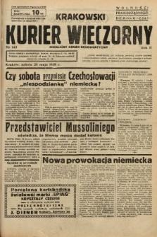 Krakowski Kurier Wieczorny : niezależny organ demokratyczny. 1938, nr143