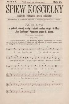 Śpiew Kościelny : czasopismo poświęcone muzyce kościelnej. 1901, nr6 i 7
