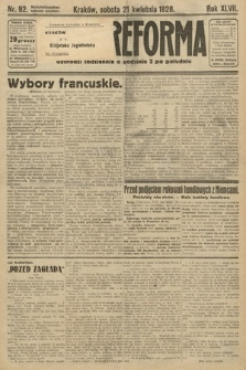 Nowa Reforma. 1928, nr92