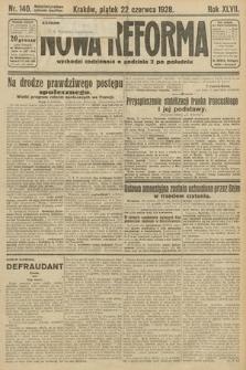 Nowa Reforma. 1928, nr140