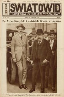 Światowid : ilustrowany kuryer tygodniowy. 1925, nr43