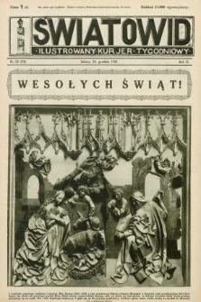 Światowid : ilustrowany kuryer tygodniowy. 1925, nr52