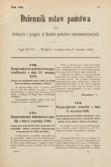 Dziennik Ustaw Państwa dla Królestw i Krajów w Radzie Państwa Reprezentowanych. 1890, cz.47