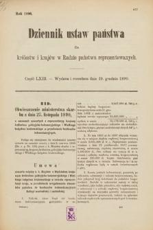 Dziennik Ustaw Państwa dla Królestw i Krajów w Radzie Państwa Reprezentowanych. 1890, cz.63