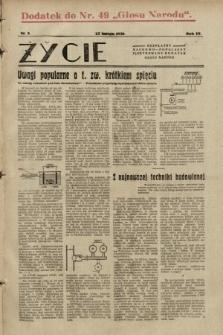 """Życie : bezpłatny naukowo-popularny ilustrowany dodatek Głosu Narodu : dodatek do nr49 """"Głosu Narodu"""". 1930, nr 8"""