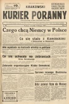 Krakowski Kurier Poranny : niezależny organ demokratyczny. 1938, nr40