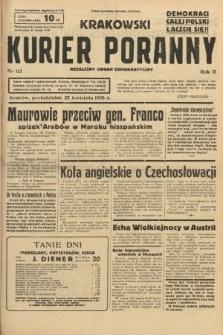 Krakowski Kurier Poranny : niezależny organ demokratyczny. 1938, nr112