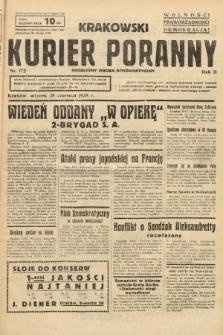 Krakowski Kurier Poranny : niezależny organ demokratyczny. 1938, nr172