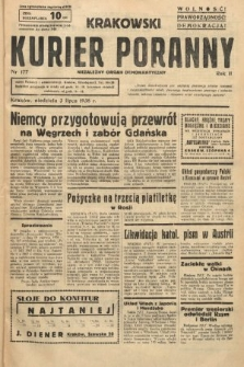 Krakowski Kurier Poranny : niezależny organ demokratyczny. 1938, nr177