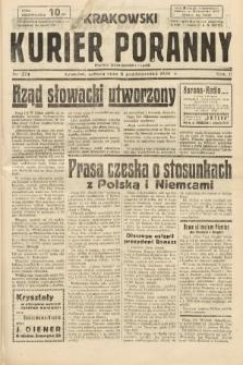 Krakowski Kurier Poranny : pismo demokratyczne. 1938, nr274