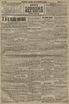 Nowa Reforma (numer poranny). 1913, nr34