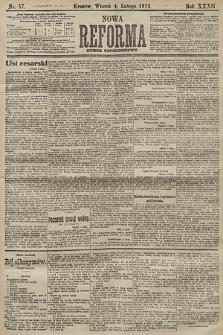 Nowa Reforma (numer popołudniowy). 1913, nr57
