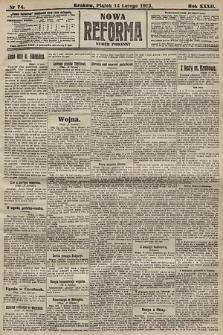 Nowa Reforma (numer poranny). 1913, nr74