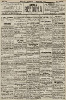 Nowa Reforma (numer poranny). 1913, nr170