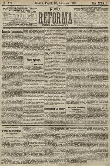 Nowa Reforma (numer popołudniowy). 1913, nr179