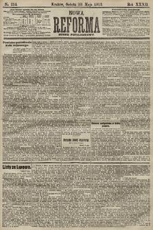 Nowa Reforma (numer popołudniowy). 1913, nr214