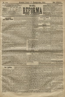 Nowa Reforma (numer popołudniowy). 1913, nr480
