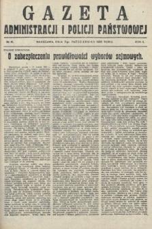 Gazeta Administracjii Policji Państwowej. 1922, nr41