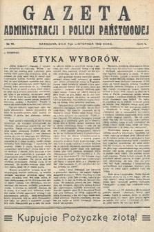 Gazeta Administracjii Policji Państwowej. 1922, nr45