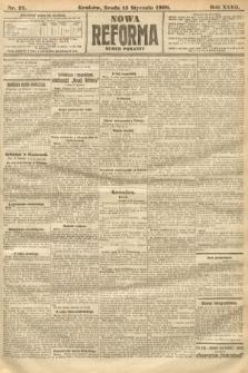 Nowa Reforma (numer poranny). 1908, nr21