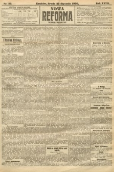 Nowa Reforma (numer poranny). 1908, nr33