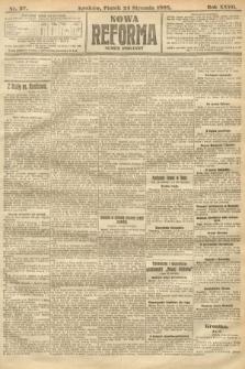 Nowa Reforma (numer poranny). 1908, nr37