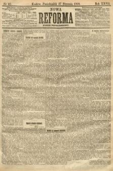 Nowa Reforma (numer popołudniowy). 1908, nr42