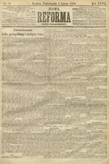 Nowa Reforma (numer popołudniowy). 1908, nr54