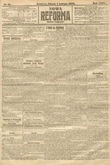 Nowa Reforma (numer poranny). 1908, nr61
