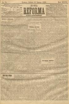 Nowa Reforma (numer popołudniowy). 1908, nr76