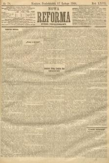 Nowa Reforma (numer popołudniowy). 1908, nr78
