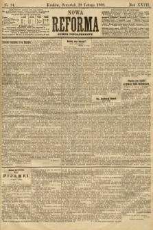 Nowa Reforma (numer popołudniowy). 1908, nr84