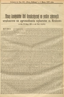 Nowa Reforma (numer poranny). 1908, nr101