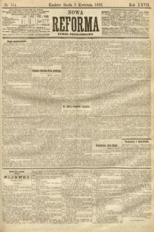 Nowa Reforma (numer popołudniowy). 1908, nr164