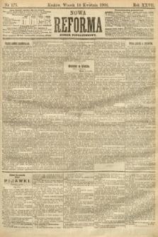 Nowa Reforma (numer popołudniowy). 1908, nr175