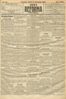 Nowa Reforma (numer poranny). 1908, nr176