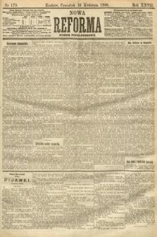 Nowa Reforma (numer popołudniowy). 1908, nr179