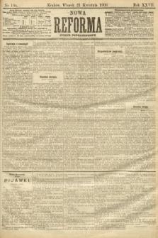 Nowa Reforma (numer popołudniowy). 1908, nr184