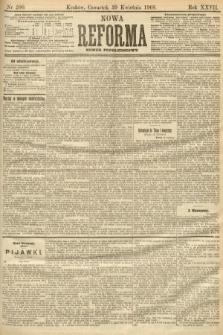 Nowa Reforma (numer popołudniowy). 1908, nr200