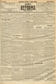 Nowa Reforma (numer poranny). 1908, nr201