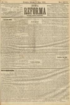 Nowa Reforma (numer popołudniowy). 1908, nr215