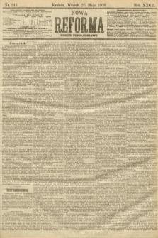 Nowa Reforma (numer popołudniowy). 1908, nr243