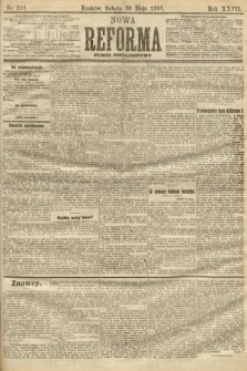 Nowa Reforma (numer popołudniowy). 1908, nr249