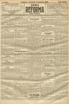 Nowa Reforma (numer poranny). 1908, nr256