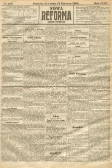 Nowa Reforma (numer poranny). 1908, nr278
