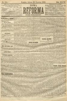 Nowa Reforma (numer popołudniowy). 1908, nr281