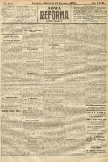 Nowa Reforma (numer poranny). 1908, nr282
