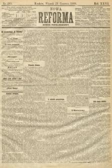 Nowa Reforma (numer popołudniowy). 1908, nr285