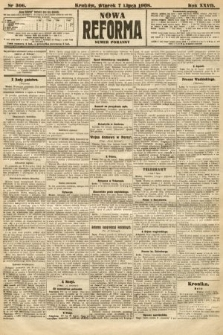 Nowa Reforma (numer poranny). 1908, nr306